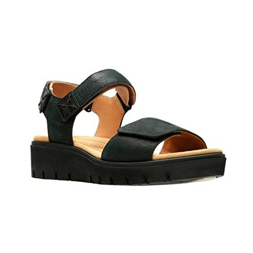 CLARKS Women's Un Karely Bay Black Nubuck 8 B US