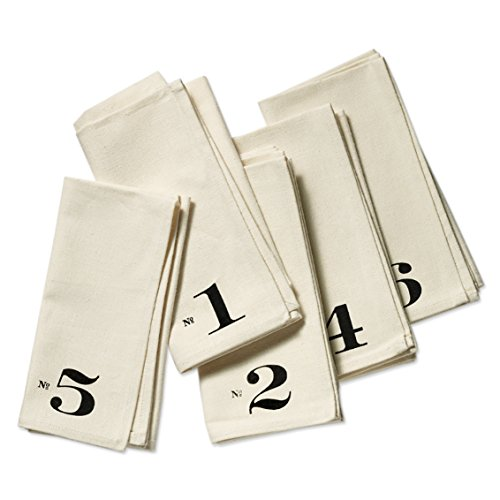 Numbered Edition Napkins, set of six by HeatherLinsHome