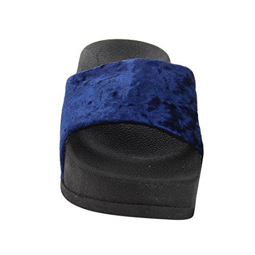C Etichetta Ah43 Sandali Da Spiaggia Per Donna Estate Casual Blu Royal