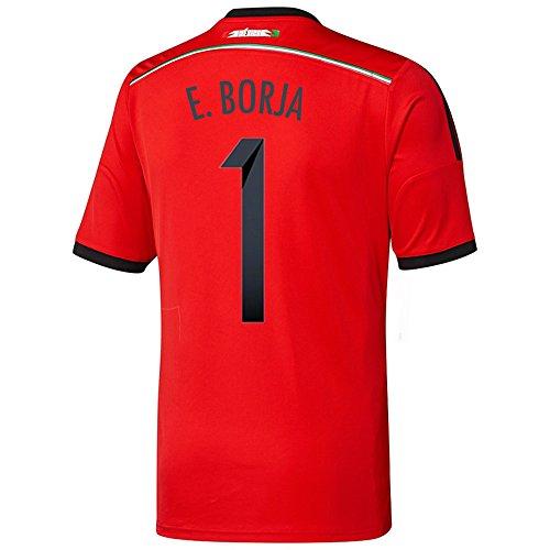 囚人スリル分泌するAdidas E. BORJA #1 Mexico Away Jersey World Cup 2014/サッカーユニフォーム メキシコ アウェイ用 ワールドカップ2014 背番号1 E. BORJA