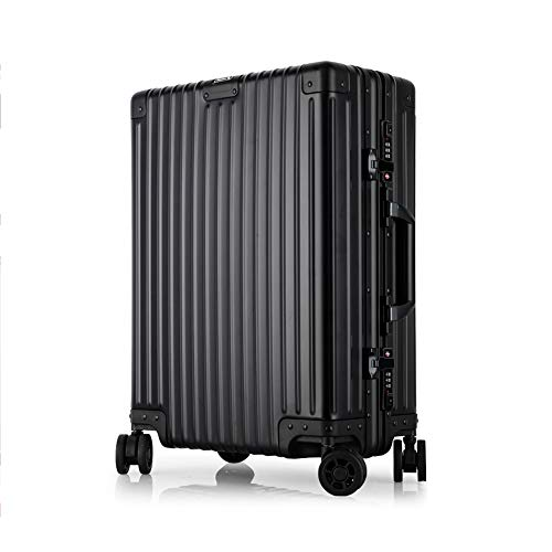 Jia He TROLLEY CASE Pull Rod Box - Scraping Aluminum Alloy Frame, Metal Wrap Angle, Embedded Anti-theft Cipher Lock, Mute Universal Wheel, Suitable For Travel And Short Journey Business Travel, 2 Colo