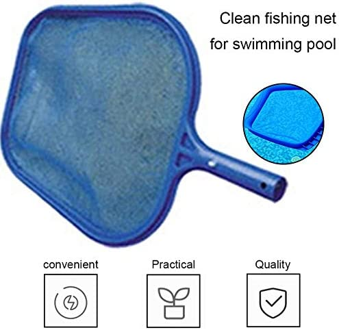 Blue Swimming Pool Leaf Skimmer Fine Mesh Shallow Water Leaf Net Catcher Swimming Pools Cleaning Net for Hot Tub Fountains Spas