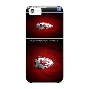 Iphone 5c TvJ12915mQwB Custom Lifelike Kansas City Chiefs Pictures Protector Cell-phone Hard Covers -AlissaDubois