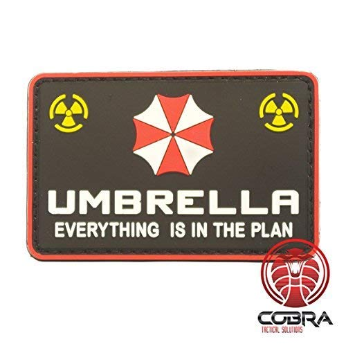 Cobra Tactical Solutions Umbrella Corporation Logo Resident Evil 3D PVC Parche Gancho Hecho Airsoft Cosplay Everything is in The Plan