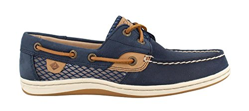 Sperry Women's Koifish Mesh Boat Shoe, Navy, 8 M US