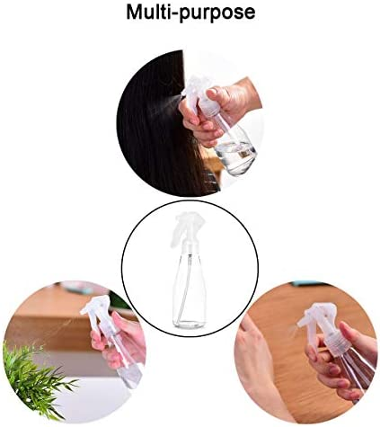 Flacons Pulvérisateurs,Bunahome Brume fine Vaporisateur Vide Spray Bouteilles Plastique Transparent pour le nettoyage, le jardinage et l'alimentation