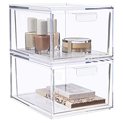 """STORi Audrey Stackable Cosmetic Organizer Drawers 4-1/2"""" Tall 