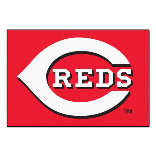 FANMATS MLB Cincinnati Reds Nylon Face Starter Rug