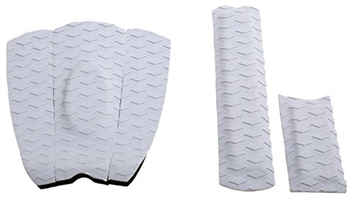 Punt Surf Ripper Skimboard Traction Pad & Arch Bar - 3 Piece Stomp Pad & Raised Arch Bar for Skimboarding with 3M Adhesive for Ultimate Grip. Guaranteed to Stick Forever