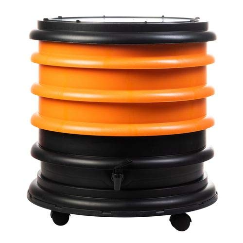 WormBox : Vermicompostador 3 bandejas Naranja - 48 litros