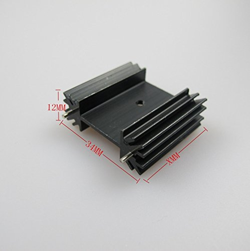 Amazon.com: Small Black Aluminum Heat Sink Module Cooler Fin for Package TO-220 Diodes, Non-Inductive Resistors, LM78xx LM317 LM337 Regulator IC, ...