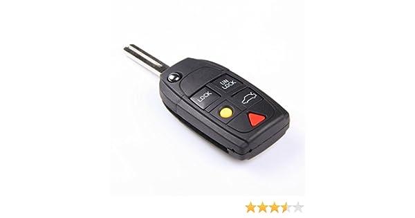 amazon com replacement car key repair keyless entry flip fob remoteamazon com replacement car key repair keyless entry flip fob remote key case shell for volvo c30 c70 s40 s80 v50 v70 xc90 xc70 xc60 lqnp2t apu 8685150 no