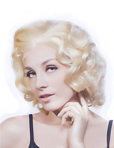 Blonde Marilyn Monroe Wig (Imstyle Stunning Big Curly Short Lace Front Wig Celebrity Blonde Hair Heat Resistant)