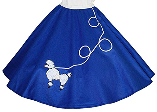 Blue Poodle Skirt Costumes (3 BIG NOTES - Adult FELT Poodle Skirt Size Small (25