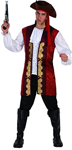 Phertiful Men's Pirate Costume Halloween Cosplay(M-L) -