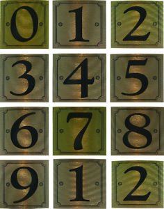 eCobbler Metalic Stick On Door Numbers 0 To 9In Gold - Number 4