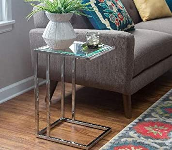 Amazon.com: Skinny End Table-Chrome 16 Inch Wide-Smart Choice for