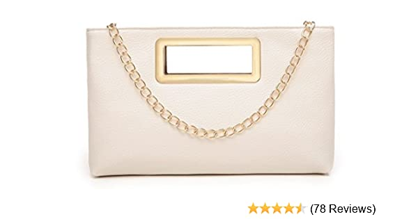 New Ladies Fashion Overflap Gold Ring Chain Satchel Messenger Party Shoulder Bag