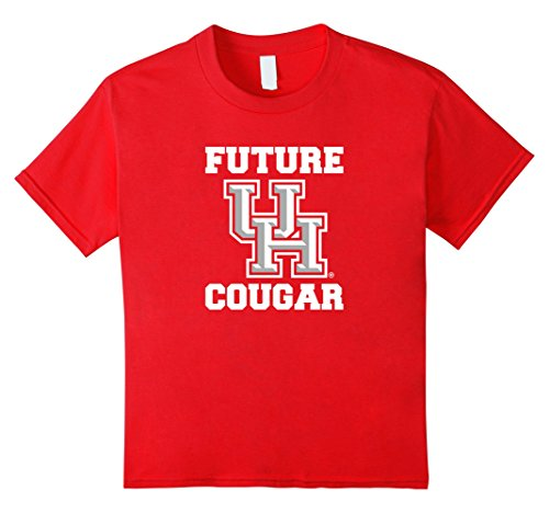Kids Future Cougar | Kid's University of Houston Youth T-shirt 10 Red (Youth University)