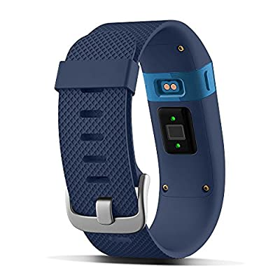 UMTELE Replacement Bands for Charge HR, Soft Silicone Interchangeable Strap with Metal Buckle Clasp for Fitbit Charge Heart Rate Wristband, Blue, Small