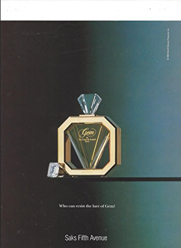 PRINT AD For 1989 Van Cleef & Arpels Gem Fragrance: Who Can Resist The Lure?