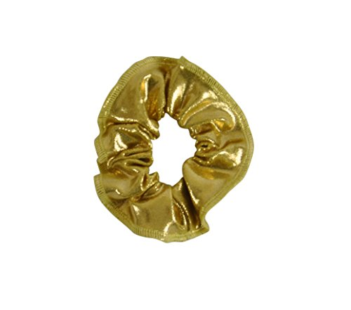 Obersee Kids Hair Tie Scrunchie, Gold, One Size