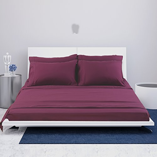 EASELAND 6 Pieces 1800 Thread Count published Pillowcase Sets