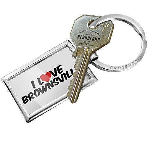 Key Brownsville (NEONBLOND Keychain I Love Brownsville)