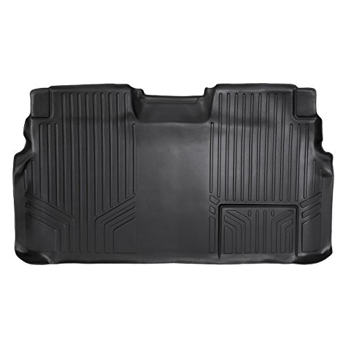 2012 2nd Row Floor Mats - SMARTLINER Floor Mats 2nd Row Liner Black for 2009-2014 Ford F-150 SuperCrew Cab