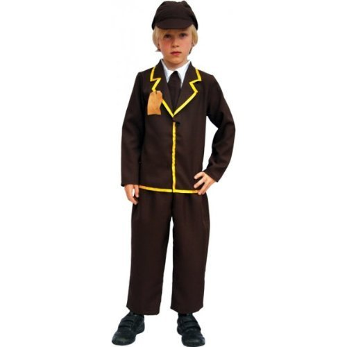 Evacuee Dressing Up Costumes (Curriculum Evacuee Boy Dressing Up Costume 9 - 12 years by Jolly Wodger)