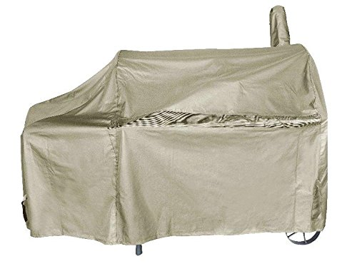 iCOVER 60 Inch Heavy-Duty Premium classic outdoor BBQ Barbecue Off-Set Khaki Smoker Cover G22608 for weber char-broil Brinkmann - Gourmet Smoker American