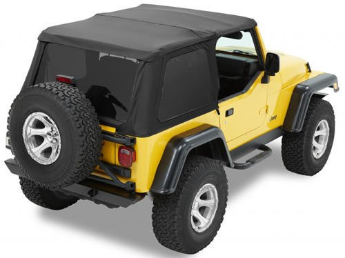 Bestop 56820-35 Black Diamond Trektop NX Complete Frameless Replacement Soft Top with Sunrider Sunroof Feature for 1997-2006 Wrangler (except Unlimited) - Install Jeep Soft Top