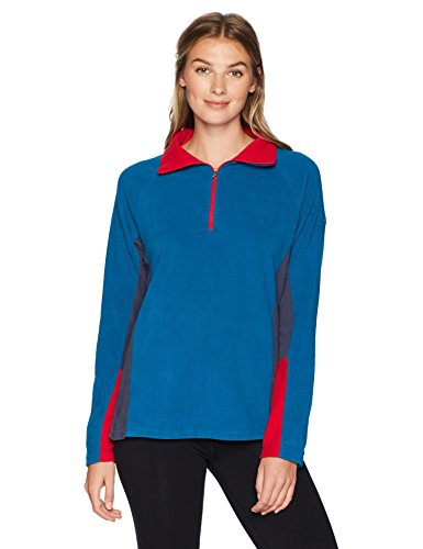 Columbia Women's Glacial IV 1/2 Zip, Lagoon/Nocturnal, X-Large