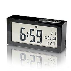 SUNYIN Digital Alarm Clock,Minimalistic and Modern with Night Light,Black