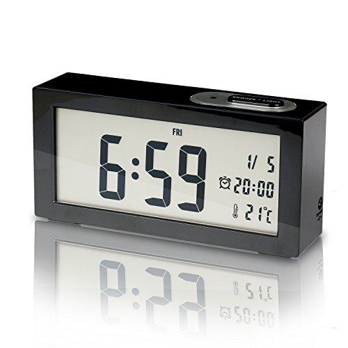 SUNYIN Digital Alarm Clock,Minimalistic and Modern with Night - Shelf Clock Ansonia
