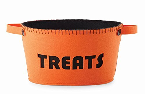 Mud Pie Halloween Home Decor Lined Treats Basket 4704001 (Halloween Candy Baskets)