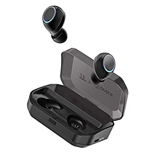 True Wireless Earbuds, TaoTronics Bluetooth 5.0 Headphones IPX7 Waterproof Built-in Mic with 3350mAh Charging Case for 1 Week Extended Playtime