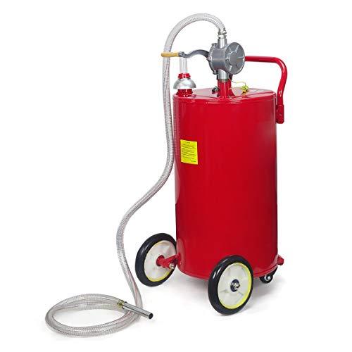 STKUSA 35-Gallon Portable Fuel Transfer Gas Can Caddy Storage Tank 35gal-Capacity Pump w/Wheel by STKUSA (Image #2)