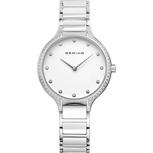 BERING Time 30434-754 Womens Ceramic Collection Watch with Stainless steel Band and scratch resistant sapphire crystal. Designed in Denmark.