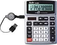 Calculadora De Mesa Prata Escritório 12 Dígitos