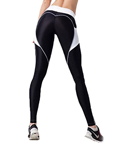 CYMF Yoga Pants Sport Leggings Exercise Workout Heart Patchwork Elastic Compression Exercise Heart
