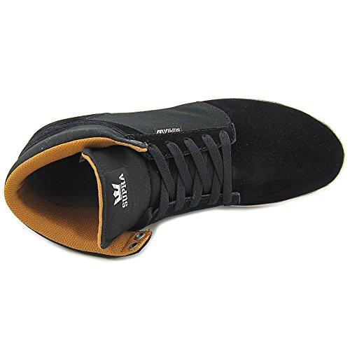 Supra Mens Yoreck Salut Chaussures Taille 8.5 Noir-blanc