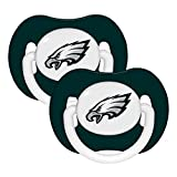 NFL Football 2014 Baby Infant Pacifier 2-Pack - Pick Team (Philadelphia Eagles - Solid)