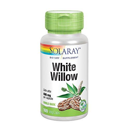 Solaray White Willow Bark Capsules, 400 mg, 100 (Bark Capsules)