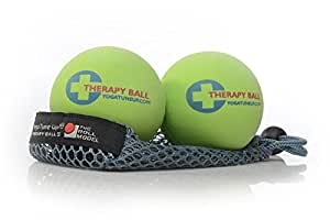 Yoga Tune Up Therapy Ball Pair in Tote, Bright Green