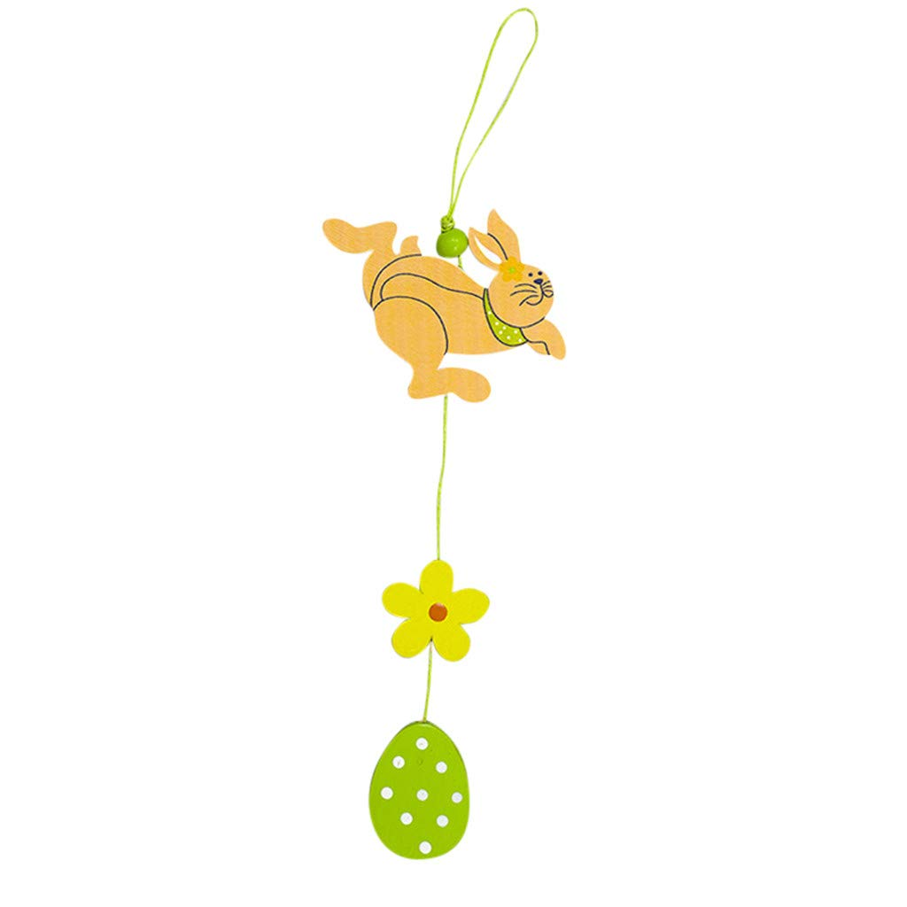 Coerni Easter Day Easter Decoration Wooden Hanging Pendant Party Ornament (B2)