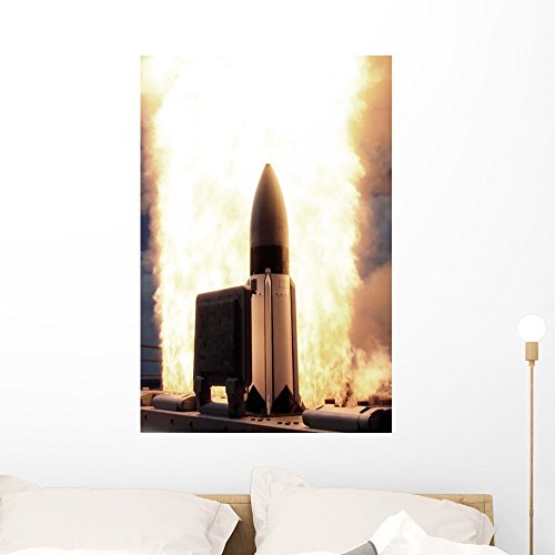 Standard Missile 3 Is Wall Mural by Wallmonkeys Peel and Sti