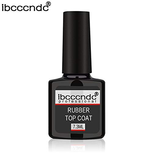 7.3ml Professional Rubber Base Coat Rubber Top Coat Soak-off Gel Nail Polish Lovelysunshiny