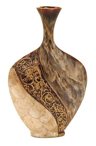 Deco 79 64736 Ceramic/Capiz Shell Vase, 18