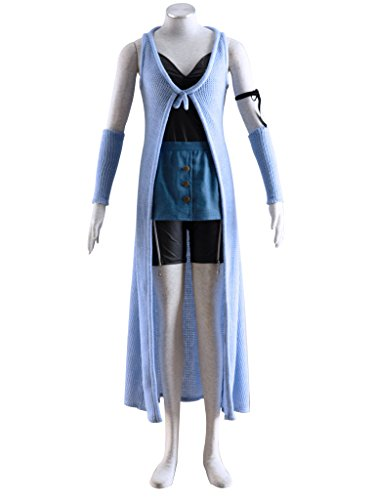Final Fantasy 8 Rinoa Costume (Mtxc Women's Final Fantasy VIII Cosplay Costume Rinoa Heartilly 1st Size Small Blue)
